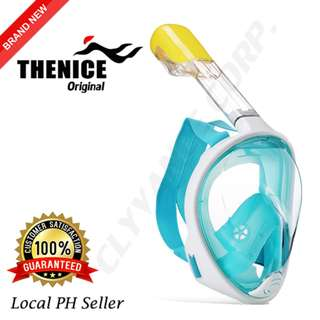 Thenice Full Face Snorkel Mask S/M (Green)