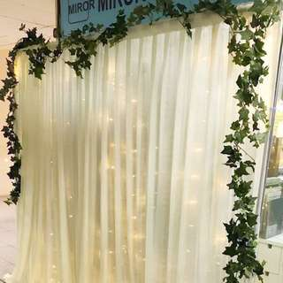 DIY Backdrop/ curtain/ fairy lights rental