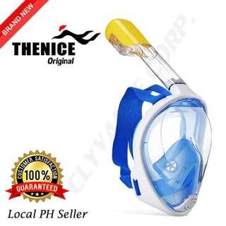 Thenice Full Face Snorkel Mask S/M (Blue)