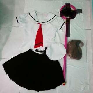 Cardcaptor Sakura Summer Uniform + wig set