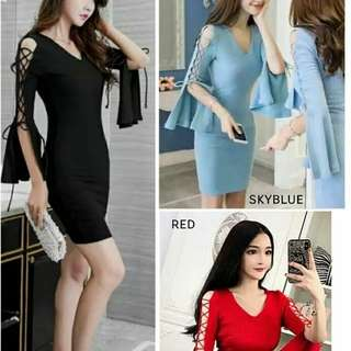 S 305 Knit Dress Rp123.000 Rajut import. Redi jkt