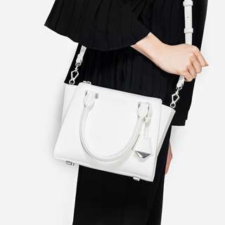 Charles & Keith Small City Bag In White