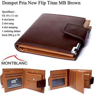 Dompet Pria Pendek New Flip Titan MB Brown