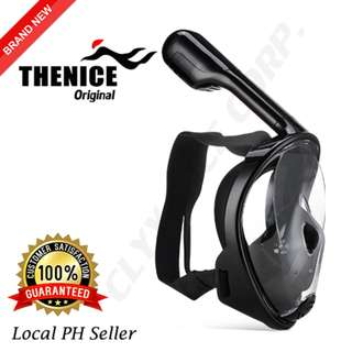 Thenice Full Face Snorkel Mask S/M (Black)