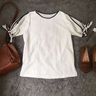 White Cold Shoulders Blouse