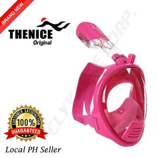 Thenice Kids Full Face Snorkel Mask XS (Pink)