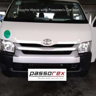 Carmats/Floormat/Drivermat Customisation - Toyota Hiace