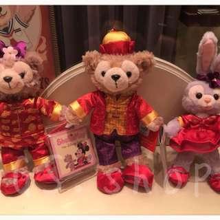 🚚 🇭🇰 香港迪士尼 ✨ 新年 達菲 雪莉梅 雪莉玫 史黛拉 吊飾 鑰匙圈