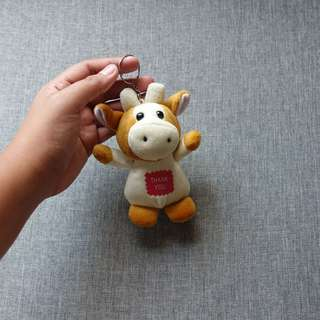 Cow Stuffed Toy with Key Chain