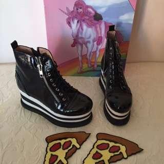 Jeffrey Campbell Platform Pizza Boots Size 8
