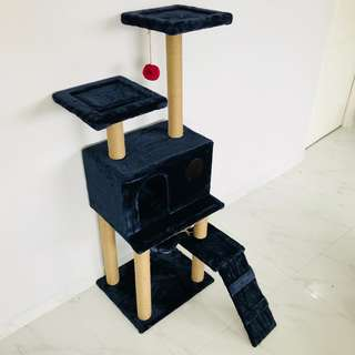 cat condo tree (Dark Blue) new scratch pole post climb play toy