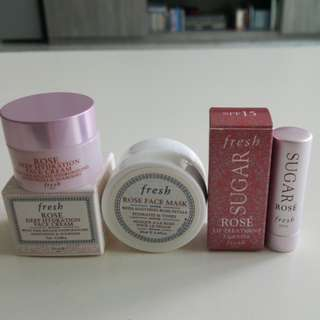 2 pcs travel size from Fresh- rose series