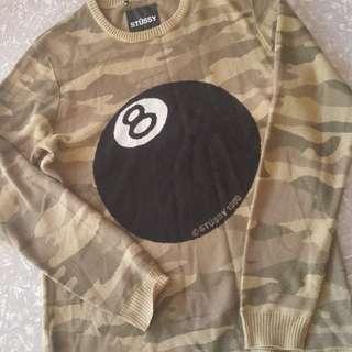 STUSSY sweater camo mens size S