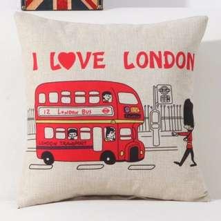 [Ready Stock] I love London Cushion Cover