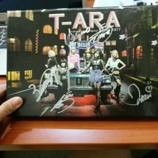 T-ara autographed cd. With signature