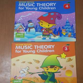 Music Theory for young children book 3 & 4