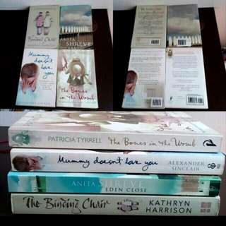 4 Story Books Binding Chair Eden Close  Mummy Doesnt Love You The Bones In The Womb