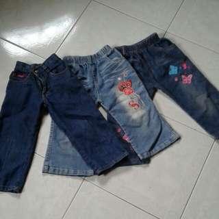 Seluar jeans kanak2