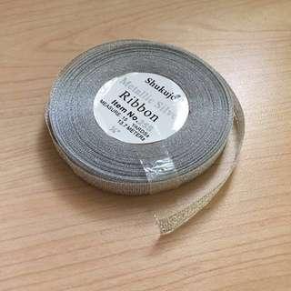 Metallic Silver ribbon (1/4 inch)