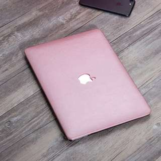 Pink leather Texture MacBook Hard Cover case