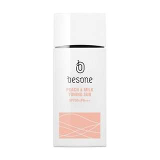 Besone Peach à Milk Toning Sunscreen Lotion SPF50+PA+++ (15g)