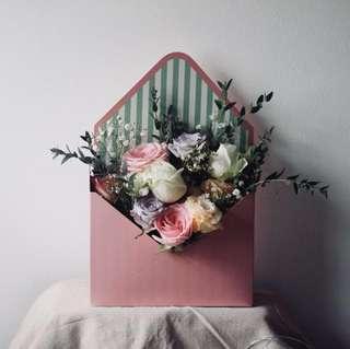 Valentine's day Flower bouquet box