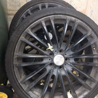 "3x Lenso Wheels Tyres 20"" Inch"