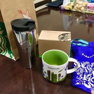 RUSH SALE! Starbucks mug and tumbler from singapore