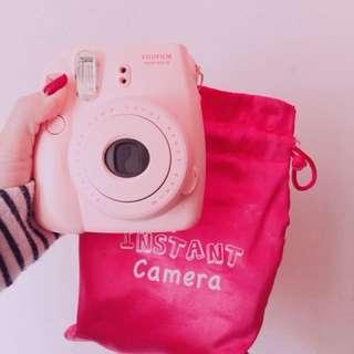 即影即有相機 99%new 連袋 粉紅色超令