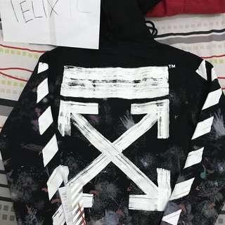 Off white diag galaxy zipup hoodie
