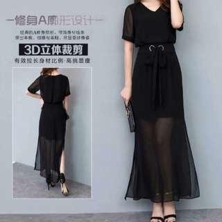🚚 長裙二件式-伸縮彈性腰圍~有三個尺寸