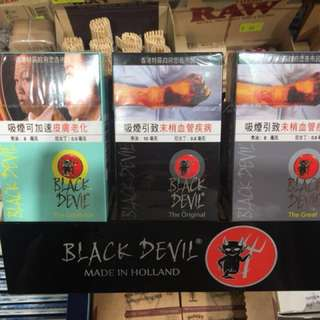 黑魔鬼  BLACK DEVIL  日本煙