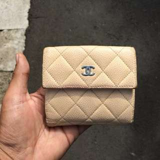 Chanel Quilted Caviar Lambskin CC Compact Wallet Spain AUTHENTIC