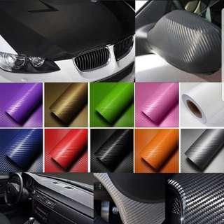 DIY 1 Sheet Carbon Fiber Sticker / Decal  /  152cm  by  127cm