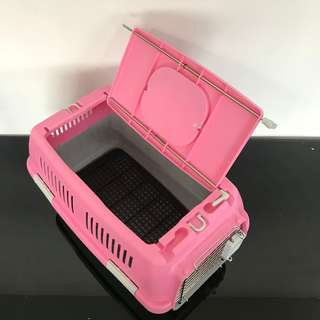 Pet carrier cage carry cat kitten dog puppy  with sunroof