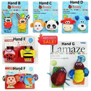 Baby Hand & Sock Rattle Toys