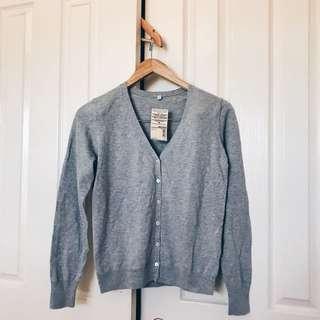 MUJI V-Neck Cardigan (Grey)