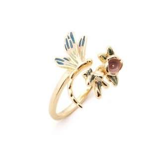 🚚 英國設計師品牌蜻蜓戒指
