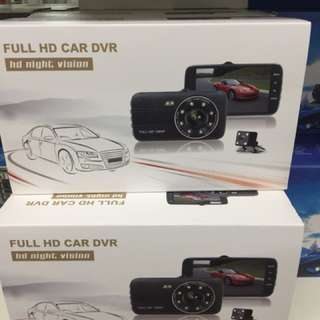 Full HD Car DVR with 3 Camera front back and inside