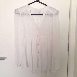 ASOS petite white blouse size 6 excellent condition