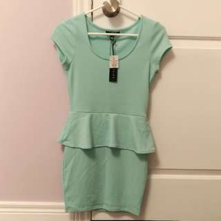 BNWT Uk2la Green Peplum Dress