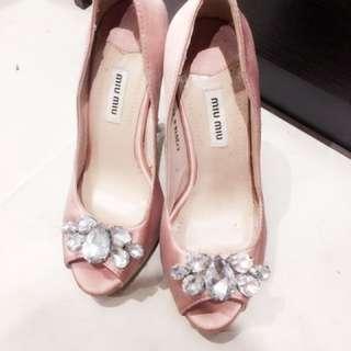 Miu Miu Crystal Heels size 37 (6.5)