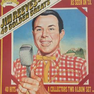 Jim Reeves - 40 Golden Greats Vinyl or Record