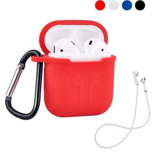 AirPods Case Holder Protective Shock Cover with Keychain