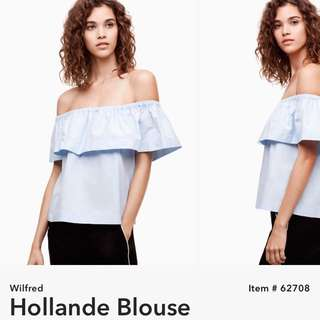 BNWT Aritzia Wilfred Hollande Blouse