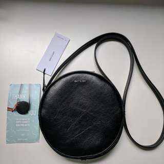 Brand New Matt and Nat Circular Hope Vegan Bag in Black