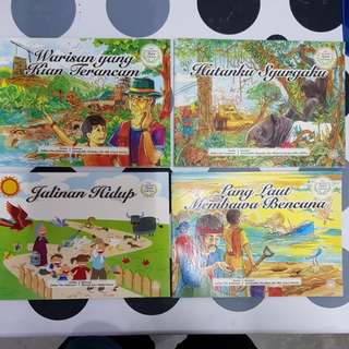 Malay children's story books (4copies)