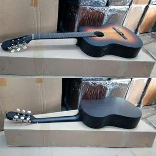 Gitar akustik elektrik nilon