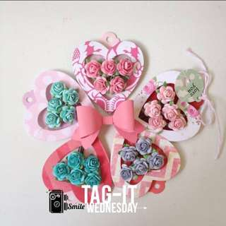 Heartshape Tag With Flower