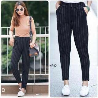 Zara Stripe Basic Pants